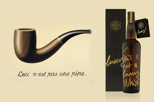 "This is not a luxury whisky – inspired by ""C'est n'est pas une pipe"""